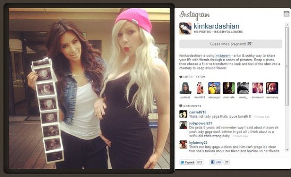 Instagram screencap of a post by Kim Kardashian