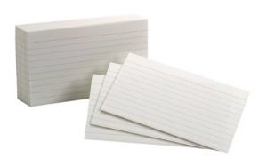 photo of 3x5 index cards