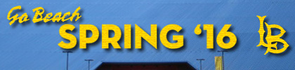 "Blue Banner with ""Spring '16"" in yellow letters"